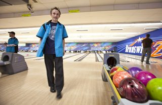 TCRC Board member enjoys his off-hours at the bowling alley.