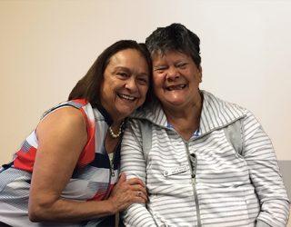 Sisters Debra and Tilla.