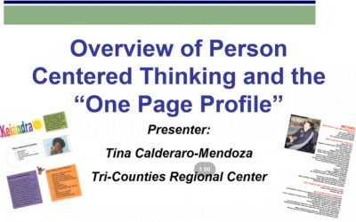 Video Overview of PCT and One Page Profiles