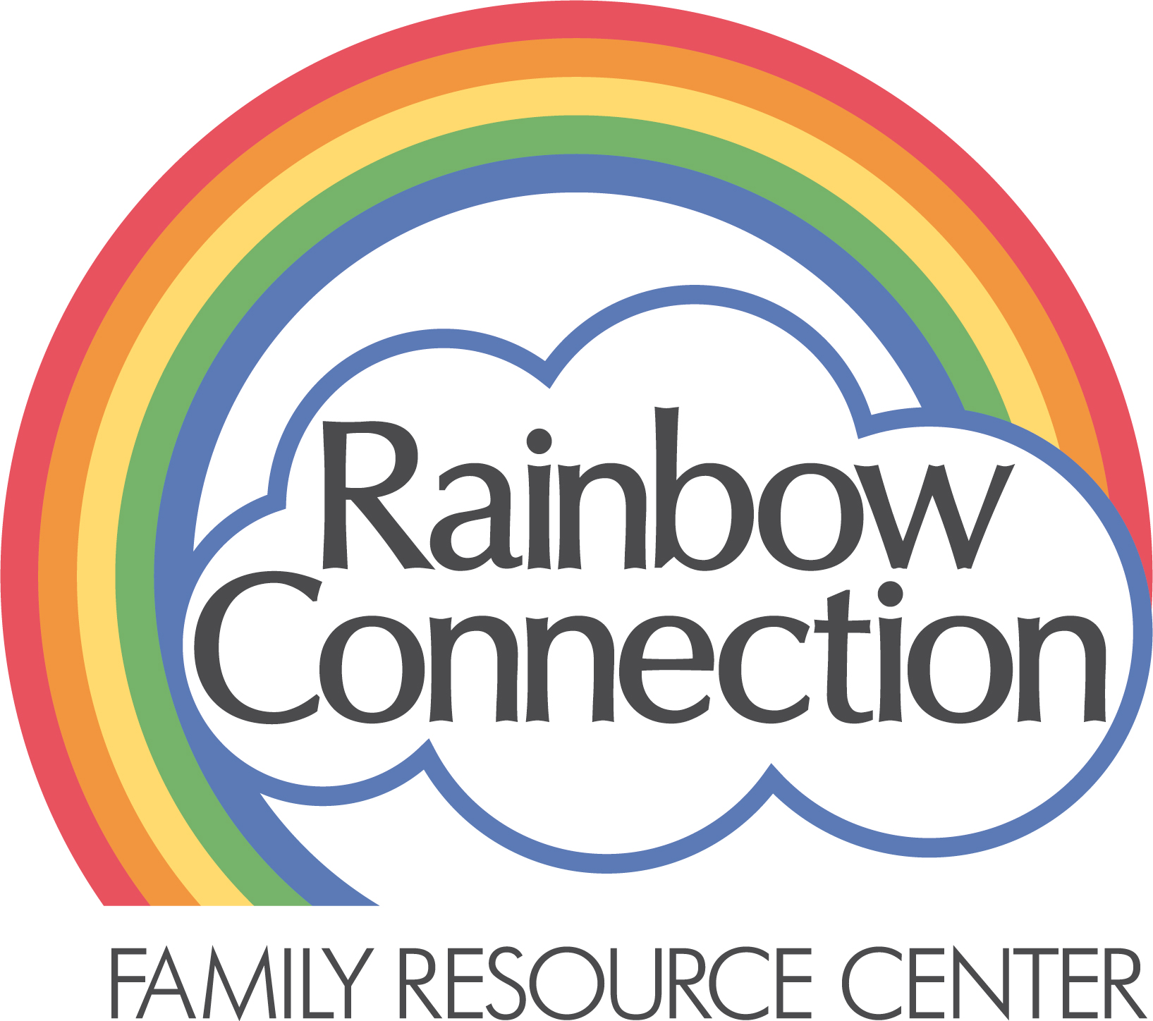Rainbow connection family resource center logo